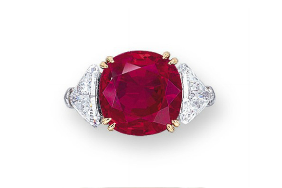 #9 The Most Expensive Rubies - A Harry Winston Ruby and Diamond Ring ($ 3,935,105)