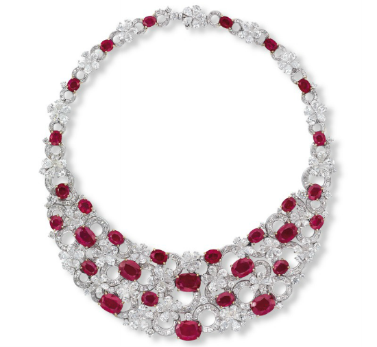 Top 10 most expensive diamond necklace - Etcetera's Burmese Ruby Necklace