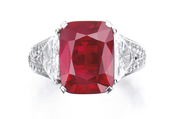 """#3 The Mose Expensive Ruby in the World - The """"Graff Ruby"""" ($ 8,600,410)"""