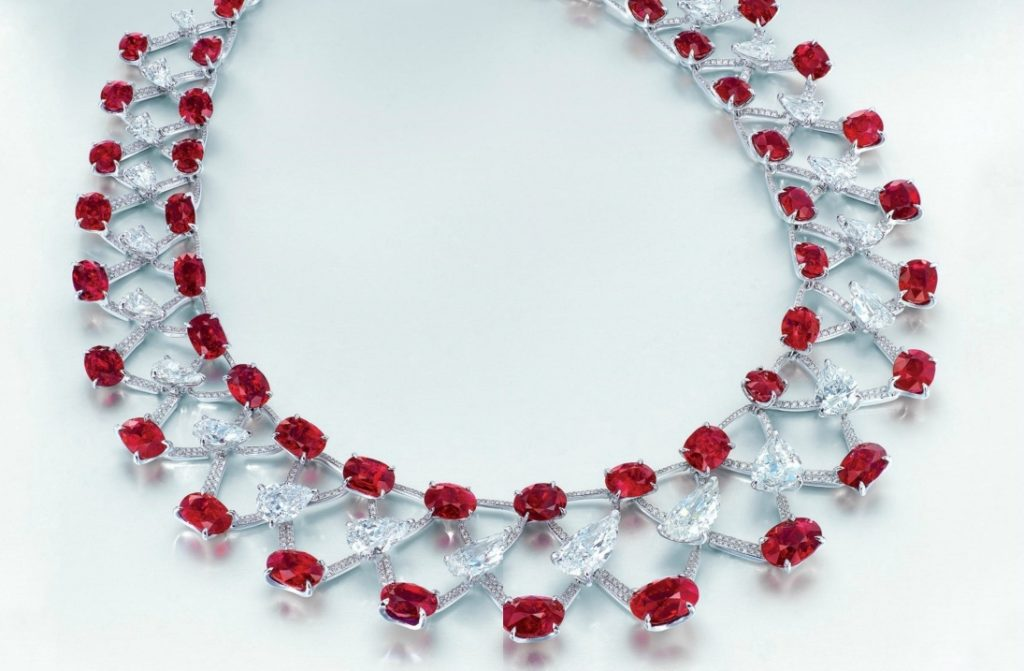 7 Most Expensive Ruby Necklaces in the World | #3. Magnificent Ruby and Diamond Necklace ($12.99 million)