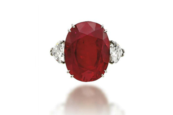 #10 The Most Expensive Rubies - A Ruby and Diamond Ring ($ 3,450,718)