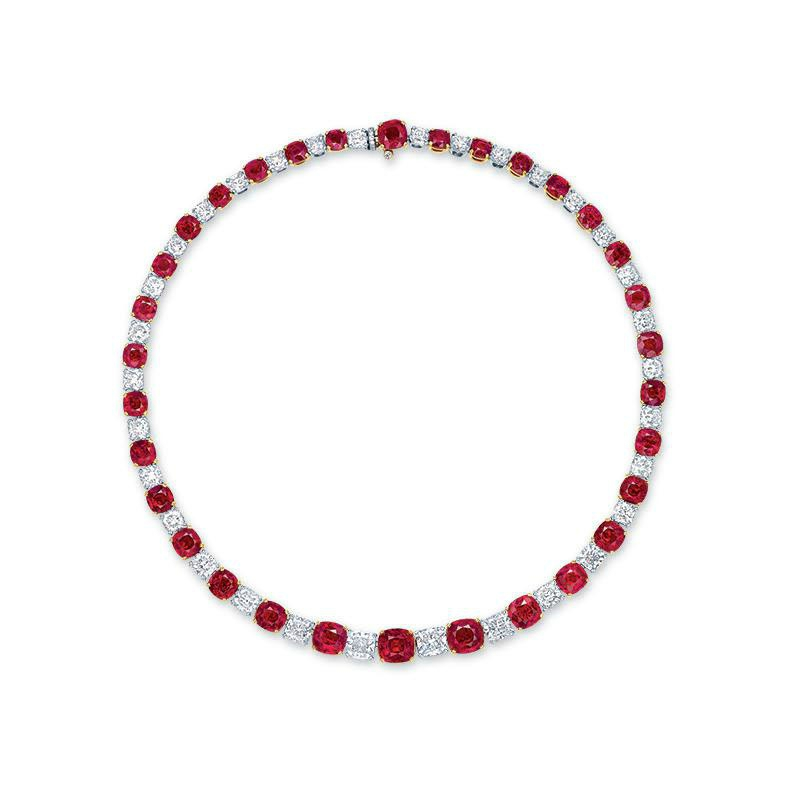 7 Most Expensive Ruby Necklaces in the World | #5. The Mogok's Fiery Red ($7.2 million)