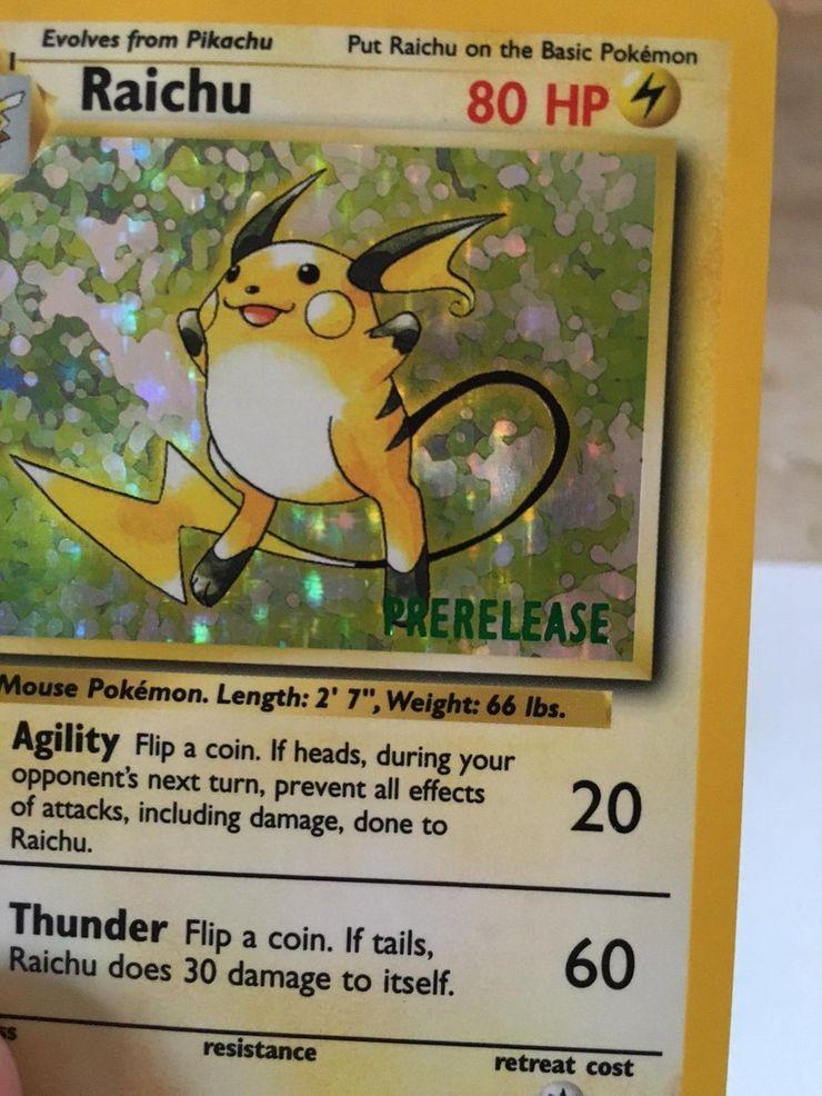 #2 Most expensive Pokémon card - Prerelease Raichu