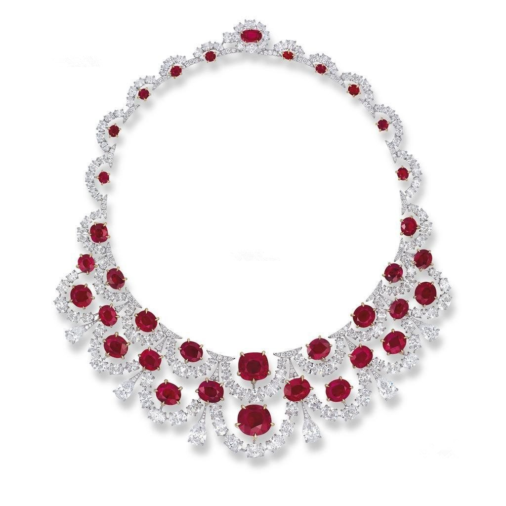 7 Most Expensive Ruby Necklaces in the World | #6. The Crimson Garland ($6.4 million)