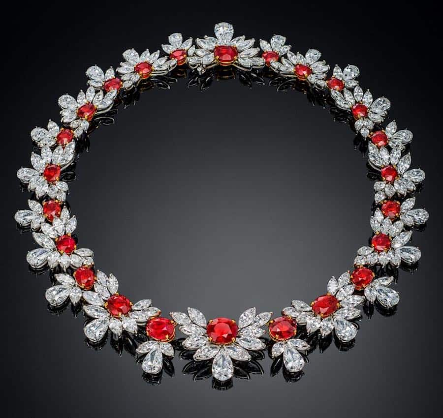 7 Most Expensive Ruby Necklaces in the World | #2 The Grand Phoenix ($35 million)