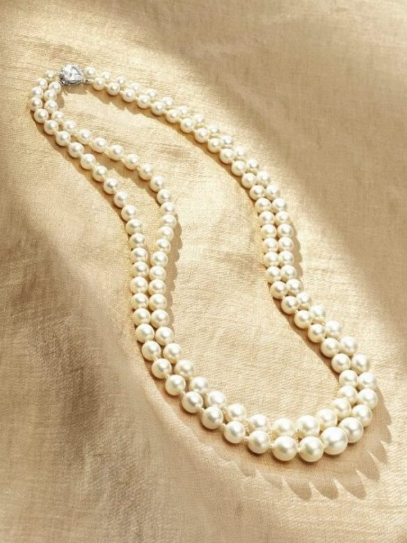 Double Strand Pearls Necklace - #5 the most expensive pearl in the world