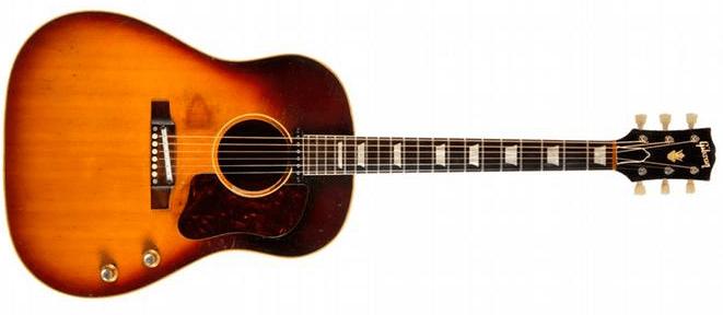 #4 Most Expensive Guitar - John Lennon's 1962 Gibson J-160E Acoustic-Electric