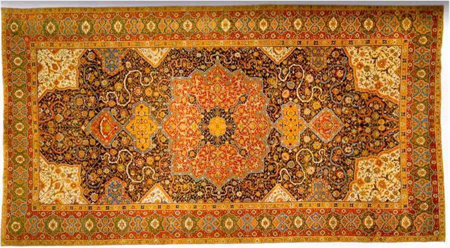 #5 Most Expensive Carpet - Rothschild Tabriz Medallion Carpet - $ 2.4 million