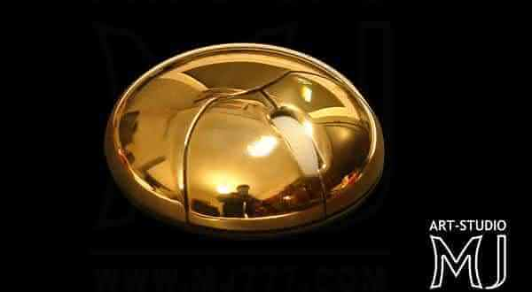 Top 10 Most expensive computer mouse - #7 GOLD METAL SUN MOUSE, EDITION MJ777 - $19,720