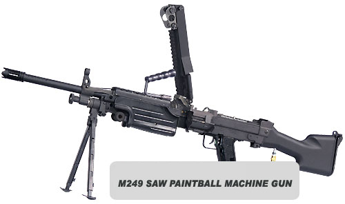 #5 RAP4 T68 M249 SAW Minimi Paintball Machine Gun - $2,500