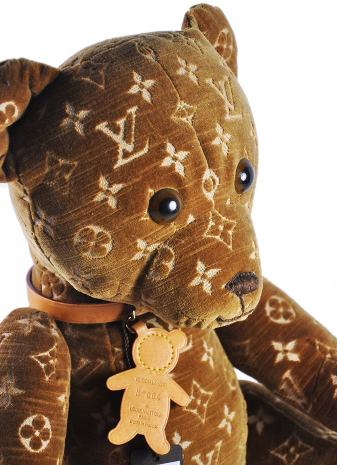 Bear with Louis Vuitton monograms is the second most expensive teddy bear
