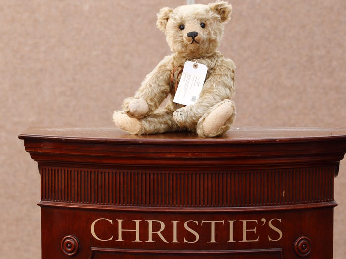 Most Expensive Teddy Bears - #11 Steiff Hot Water Bottle Teddy Bear - $ 40,358