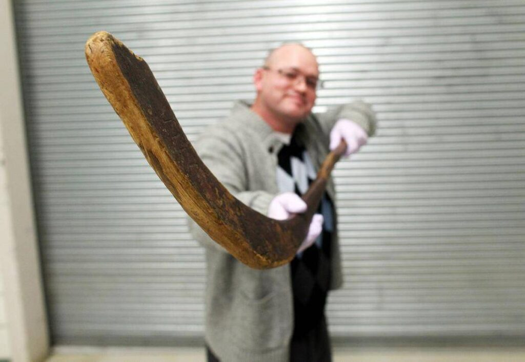 The second most expensive hockey stick & the oldest hockey stick in the world, The Moffat Stick