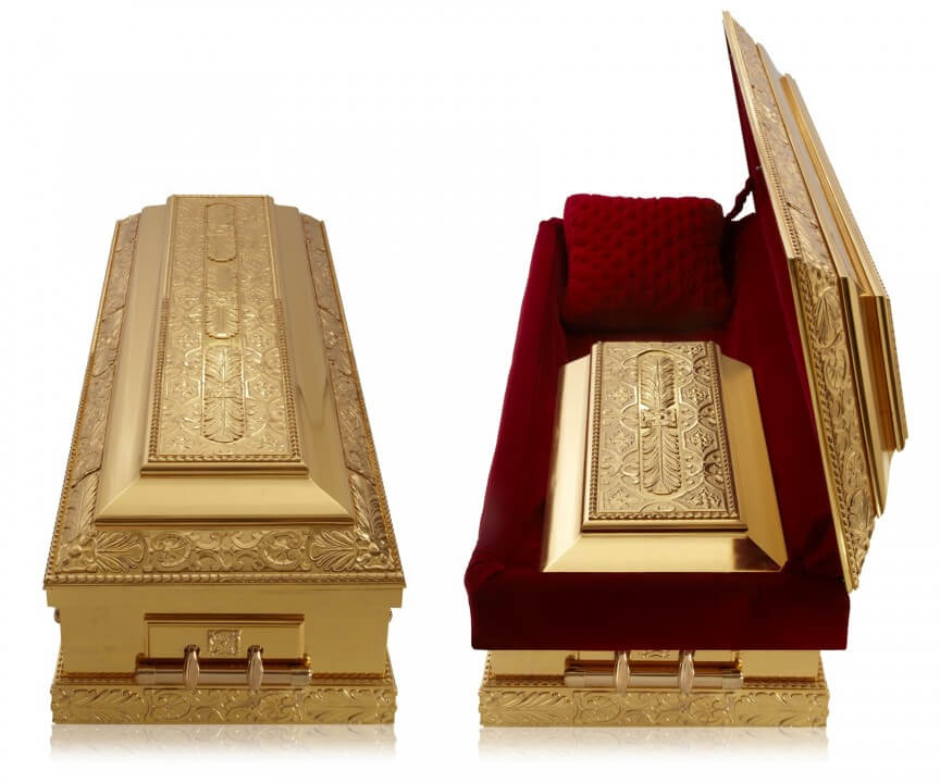 The Most Expensive Casket in the world - ZsaZsa Gabor's Casket - $40,000