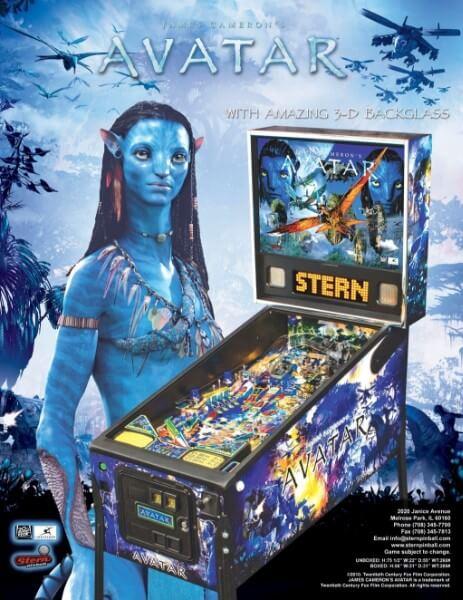 Most expensive pinball machines - #10 The Avatar Pinball Machine - $6,500