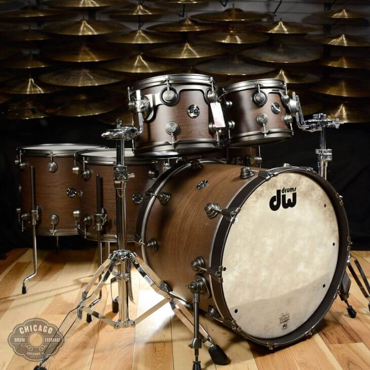 DW Timeless Timber Drum set - #3 most expensive drum sets in the world
